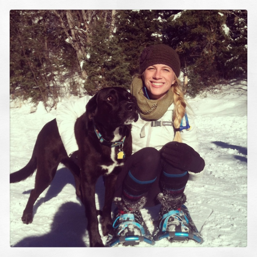 Snowshoeing with Lucy