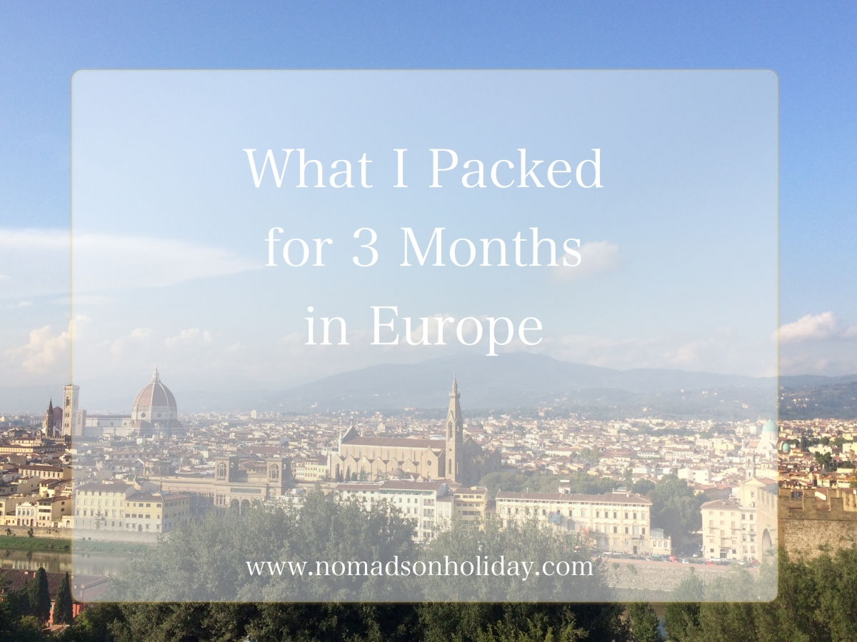 Europe: What I Packed